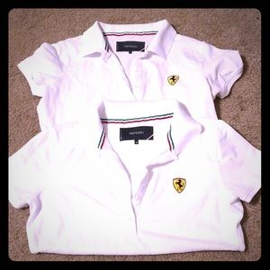 Tops - 2 Ferrari Polo shirts M